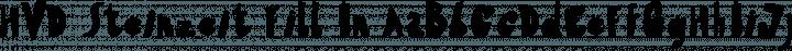 HVD Steinzeit Fill In free font