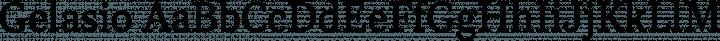 Gelasio Regular free font