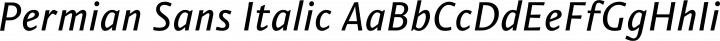 Permian Sans Italic free font
