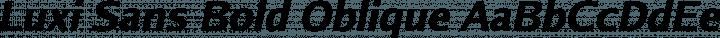 Luxi Sans Bold Oblique free font