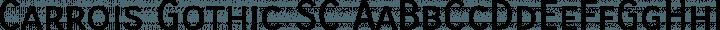 Carrois Gothic SC Regular free font