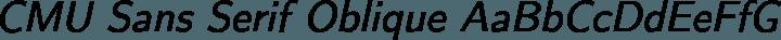 CMU Sans Serif Oblique free font