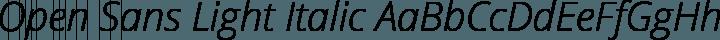 Open Sans Light Italic free font
