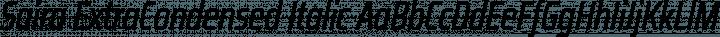 Saira ExtraCondensed Italic free font