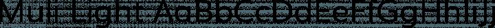 Muli Light free font
