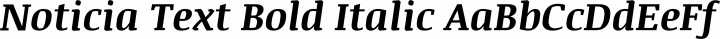 Noticia Text Bold Italic free font