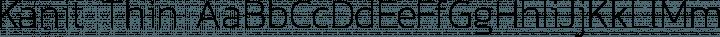 Kanit Thin free font