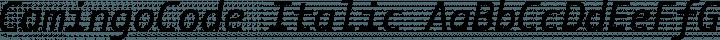 CamingoCode Italic free font