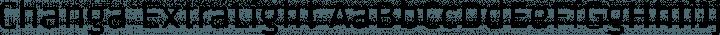 Changa ExtraLight free font