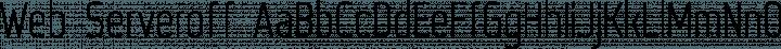 Web Serveroff Regular free font