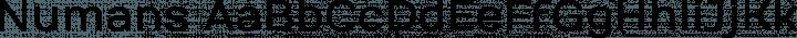 Numans Regular free font