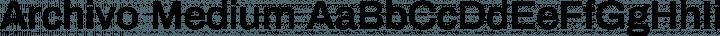 Archivo Medium free font