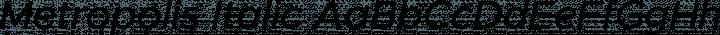 Metropolis Italic free font