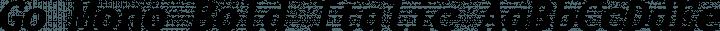 Go Mono Bold Italic free font