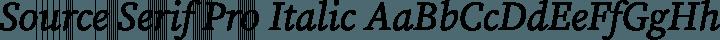 Source Serif Pro Italic free font