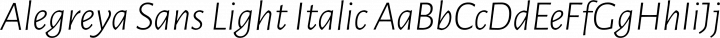 Alegreya Sans Light Italic free font