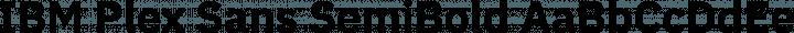 IBM Plex Sans SemiBold free font