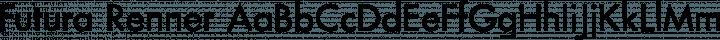 Futura Renner Regular free font