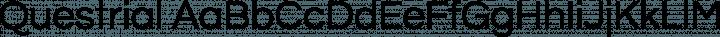 Questrial Regular free font