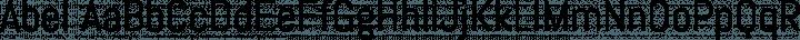 Abel Regular free font