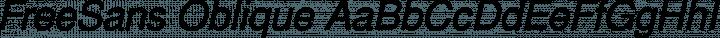 FreeSans Oblique free font