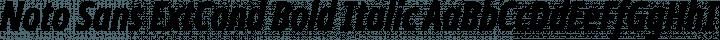 Noto Sans ExtCond Bold Italic free font