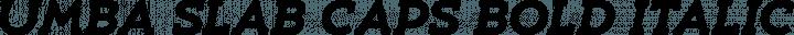 Umba Slab Caps Bold Italic free font
