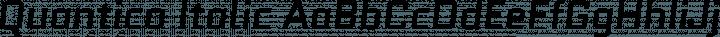 Quantico Italic free font