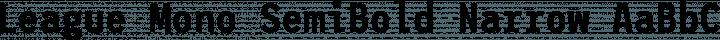 League Mono SemiBold Narrow free font