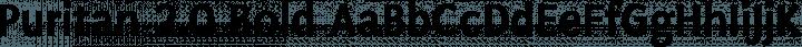 Puritan 2.0 Bold free font