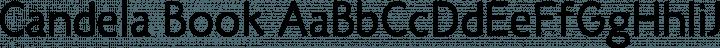Candela Book free font