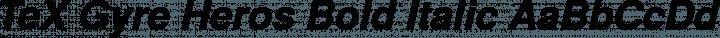 TeX Gyre Heros Bold Italic free font