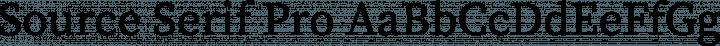 Source Serif Pro font family by Adobe