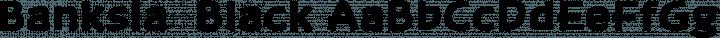 Banksia  Black free font