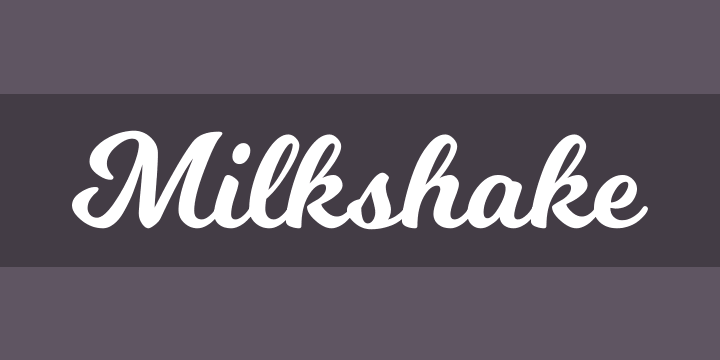 Milkshake Font Free By Laura Worthington Squirrel