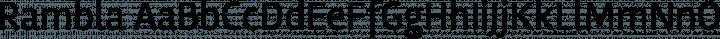 Rambla Regular free font