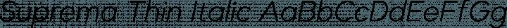 Suprema Thin Italic free font