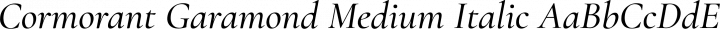 Cormorant Garamond Medium Italic free font