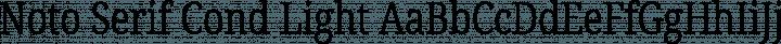 Noto Serif Cond Light free font
