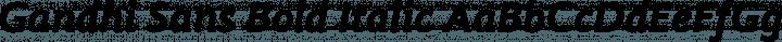 Gandhi Sans Bold Italic free font
