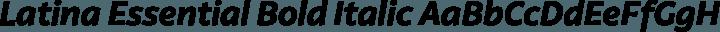 Latina Essential Bold Italic free font