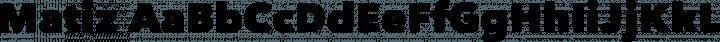 Matiz Regular free font