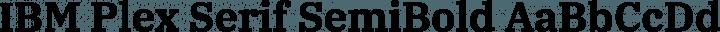 IBM Plex Serif SemiBold free font