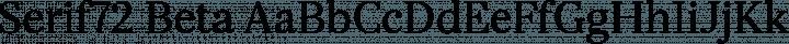 Serif72 Beta Regular free font