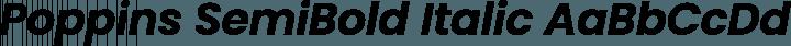 Poppins SemiBold Italic free font