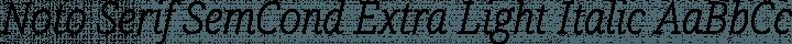 Noto Serif SemCond Extra Light Italic free font