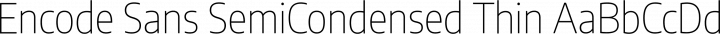 Encode Sans SemiCondensed Thin free font