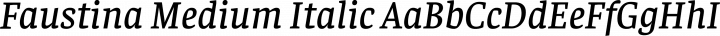 Faustina Medium Italic free font