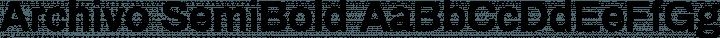 Archivo SemiBold free font