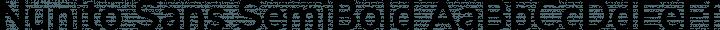 Nunito Sans SemiBold free font